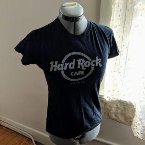 Hard Rock Cafe Atlanta black graphic tee. Size S